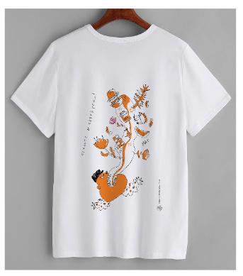 Футболка – художник П.Калашникова – оранжевый принт